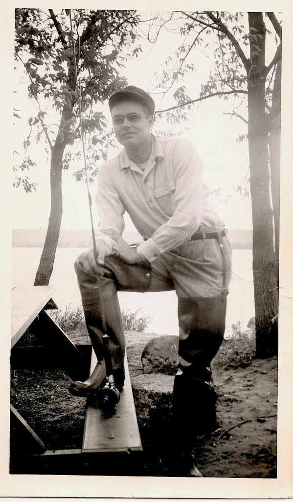 Grandpa Stan fishing, ca. 1940